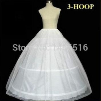 PEAPUG3 Plus size In Stock 2014 Hot Sale 3 Hoop Ball Gown Bone Full Crinoline Petticoats For Wedding Dress Wedding Skirt Accessories Slip = 1932347972