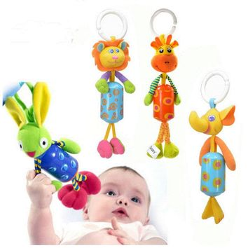 Musical Baby Stroller Carriage Pushchair Hanger Aeolian Wind Jingle Bells Rattles & Mobiles Plush Infant Toys gifts for kids