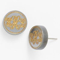 Women's Moon and Lola 'Chelsea' Small Personalized Monogram Stud Earrings (Nordstrom Exclusive)