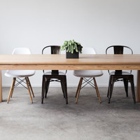 On SALE  40 x 90 Red Oak Parsons Dining Table IN by hedgehouse