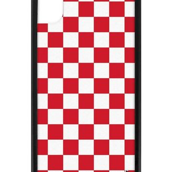 Red Checkers iPhone Xr Case