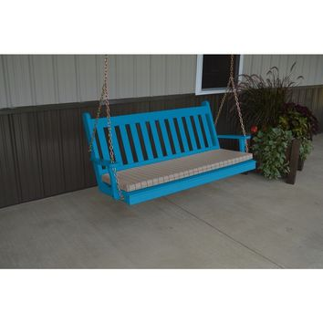 A & L Furniture Co. Yellow Pine 4' Traditional English Swing  - Ships FREE in 5-7 Business days