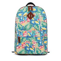 ZLYC Blossom Orchid Canvas Backpack