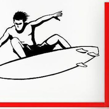 Wall Sticker Vinyl Decal Surfing Surf Sport Ocean Marine Surfboard Decor Unique Gift (z1066)