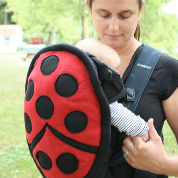 Ladybug Baby Carrier Cover for Bjorn-style carrier -  quite possibly the best baby shower gift ever