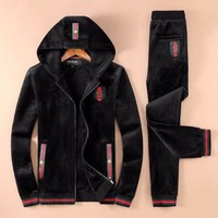 ONETOW Boys & Men Gucci Fashion Cardigan Jacket Coat Pants Trousers Set Two-Piece