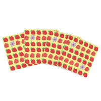 "Jane Smith ""Seasons Summer"" Yellow Red Indoor/Outdoor Place Mat (Set of 4)"