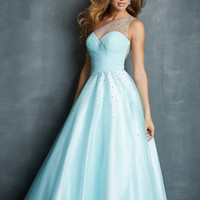 One Shoulder Beaded Top Formal Prom Dress Night Moves 7085