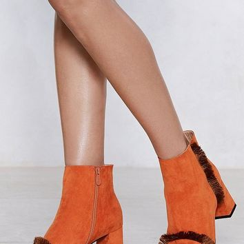 A Little Extra Vegan Suede Bootie