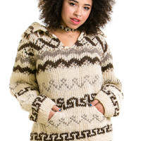 Vintage 70's Chunky Knit Pullover Sweater - XS/S
