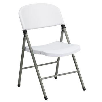 HERCULES Series 330 lb. Capacity Plastic Folding Chair with Frame