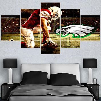 Classic Rugby Team Philadelphia Eagles Logo Paintings Wall Art Home Decor Picture Canvas Painting Calligraphy For Living Room