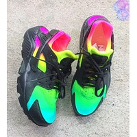 Nike Air Huarache Multicolor Stylish Women Men Sport Running Shoes Sneakers Black I