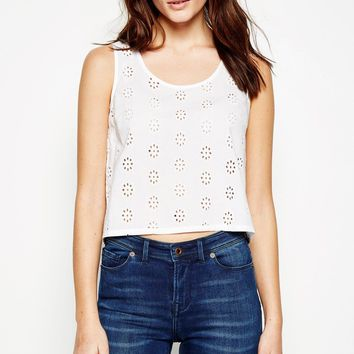 STRETFORD CROPPED EMBROIDERED VEST