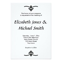 Black and White Typography Wedding Invitation
