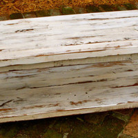 Wood Coffee Table Shabby Chic Handmade by honeystreasures