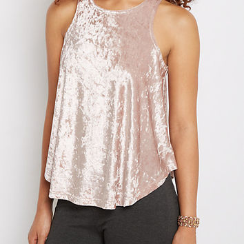 Lavender Crushed Velvet Tank Top