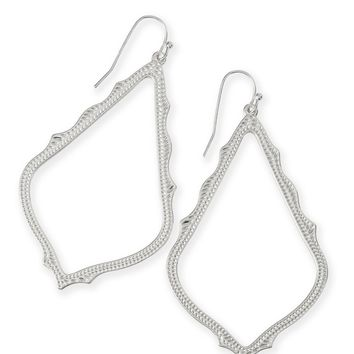 Sophee Matte Drop Earrings White | Kendra Scott