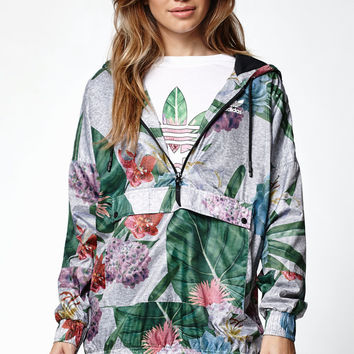 adidas Training Floral Print Half-Zip Jacket at PacSun.com