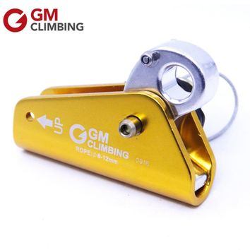 GM Climbing Rope Grab Aluminum With Eye Outdoor Rocking Tree Climbing Mountaineering Rappelling Caving Rescue Equipment