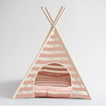 Pink and White Pet TeePee