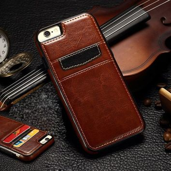 Ultra Slim Leather Wallet Style Card Slots Luxury Phone Case Cover Back For iPhone 6 6 Plus 6S 6S Plus 7 7 8 Plus