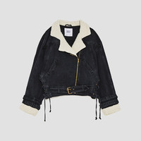 TEXTURED DENIM JACKET - JACKETS-WOMAN | ZARA Canada