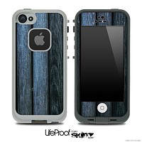 Blue Wood Slats Skin for the iPhone 5 or 4/4s LifeProof Case
