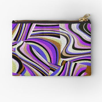 ' Groovy Retro Renewal - Purple' Studio Pouch by Gravityx9
