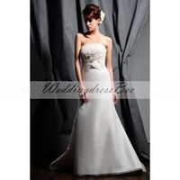 Elegant organza over sation wedding dress