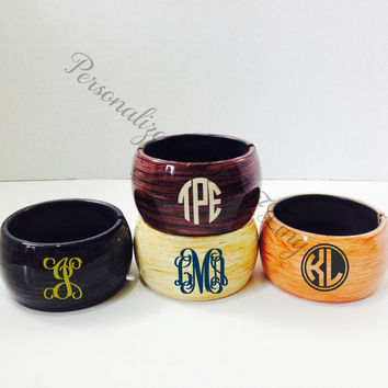 Monogram Bracelet, Personalized Bracelet, Monogram gift, birthday gift, Monogram, Preppy, personalized bangle bracelet, monogram bangle