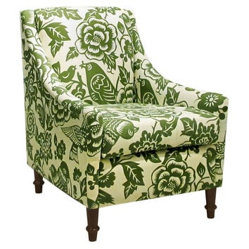Holmes Floral Swoop Arm Chair, Green, Accent U0026 Occasional Chairs