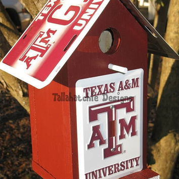 30% OFF Today Texas A&M, Aggies birdhouse