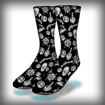 Pirate Crew Socks Novelty Streetwear