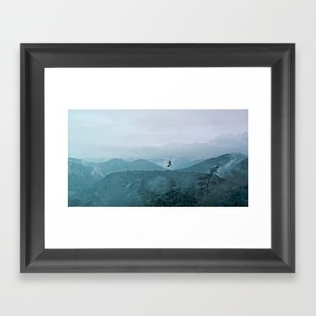 Blue smoky mountains Framed Art Print by Pirmin Nohr