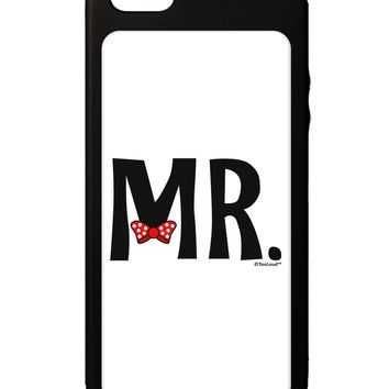 Matching Mr and Mrs Design - Mr Bow Tie iPhone 5C Grip Case  by TooLoud