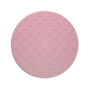 Vintage Girly Pink Pattern Drink Coaster
