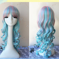 65cm Long Three Colors Beautiful Lolita Wigs, Anime Wig UF008