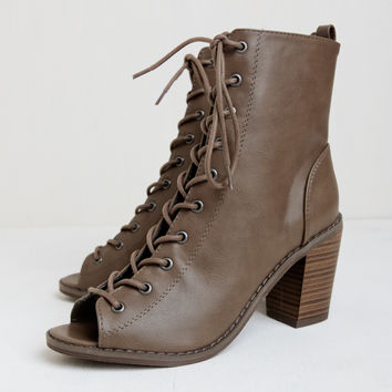 Ride Away Lace-Up Booties