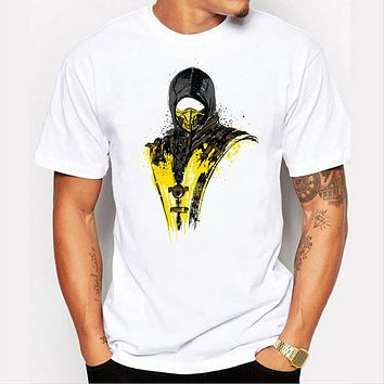 Men's Masked Rider Designer Printed Cotton T-Shirt Cool Summer Modal Graphic Hipster Casual Top