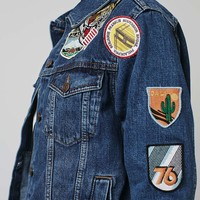 MOTO Badge Oversized Jacket - Topshop