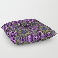 Flowers from paradise in fantasy elegante Floor Pillow by Pepita Selles