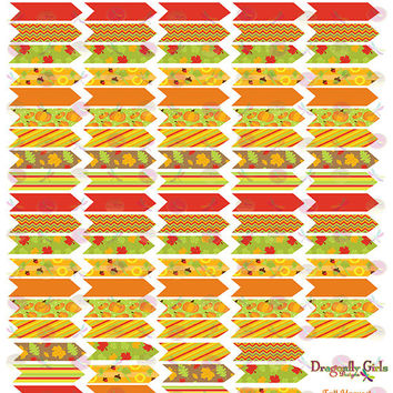 50% OFF Sale! DIY October Fall Harvest Printable Planner 110 Arrows Stickers PDF and jpeg Erin Condren Life Planners, Kikkik, Filofax