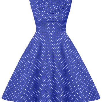 Polka Dot Printed Midi Dress