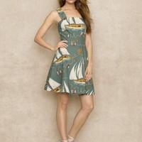 Sailboat Motif Dress