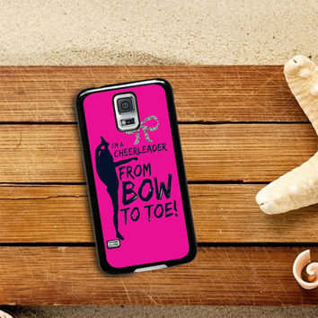bow to toe cheer Samsung Galaxy S5 Case Planetscase.com