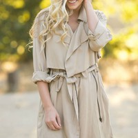 Janet Taupe Trench Coat