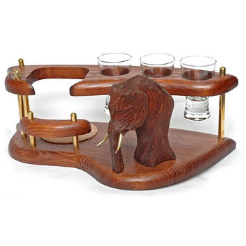 """Exclusive Wooden Mini Bar For Tequila or Vodka """"MAMMOTH"""". Hand Made, Interior Design, Home Decor, Office Decor"""