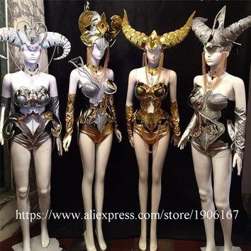 New Design Sexy Lady Stage Performance Party Dress 12 Constellations Model Catwalk Clothing Ballroom Women Costume