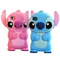 Amazon.com: Pack of 2 Disney 3d Stitch Movable Ear Flip Hard Case Cover for Iphone 4/4G/4S Blue and Pink Bonus Screen Protector Xmas Gift: Cell Phones & Accessories